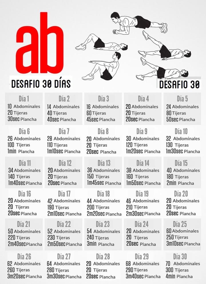 reto 30 dias abdominales