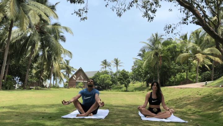 mauro y Monica en Goa