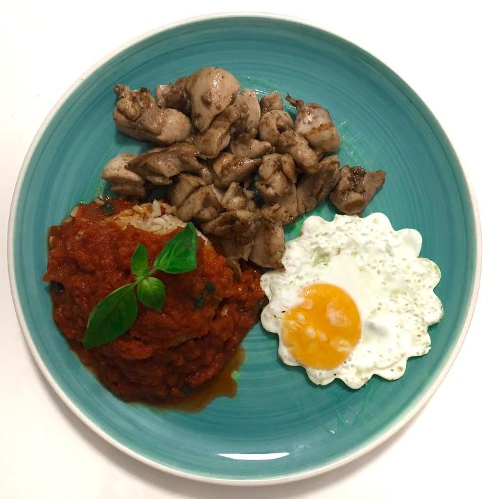 Pollo Garam Masala con arroz a lacubana