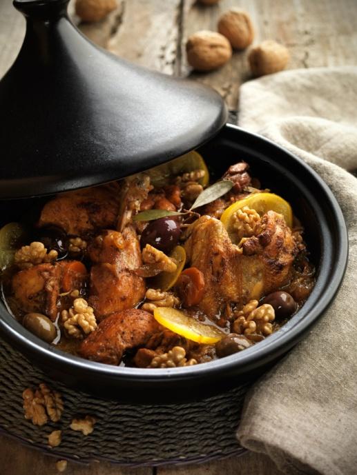 Tajine-de-pollo-con-nueces